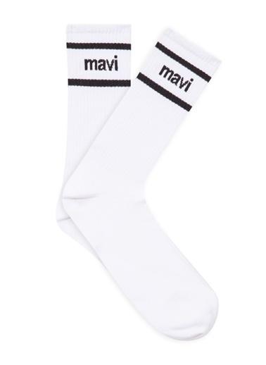 Mavi Çorap Beyaz